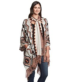 Democracy Printed Poncho