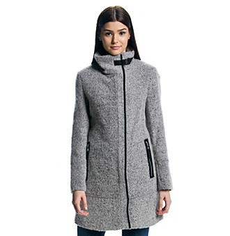 UPC 788627849010 product image for Calvin Klein Asymmetrical Boucle Coat |  upcitemdb.com ...
