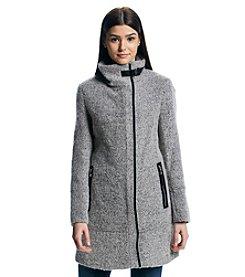 Calvin Klein Asymmetrical Boucle Coat
