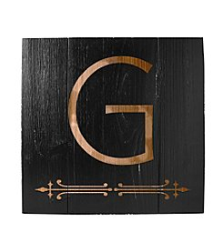 Cathy's Concepts Personalized Rustic Black Wood Wall Art