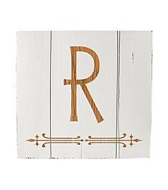 Cathy's Concepts Personalized Rustic White Wood Wall Art
