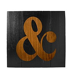 Cathy's Concepts Rustic Ampersand Wooden Wall Art