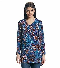 Joan Vass® Bracelet Neck Print Tunic