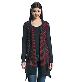 Joan Vass® Square Dot Open Cardigan