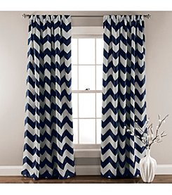 Half Moon Chevron Blackout Window Curtain