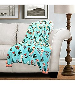 Lush Decor Elly Bird Flannel Throw