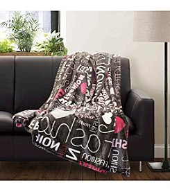 Lush Decor Fashion Flannel Throw