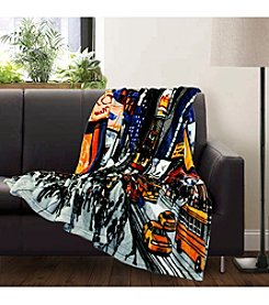 Lush Decor NYC Flannel Throw