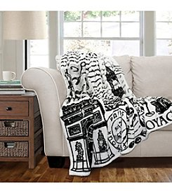 Lush Decor Paris France Flannel Throw