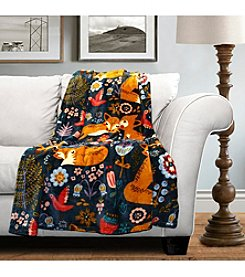 Lush Decor Pixie Fox Flannel Throw