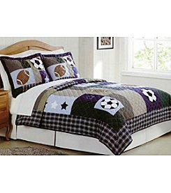 My World® Sports Collage 3-pc. Quilt Set