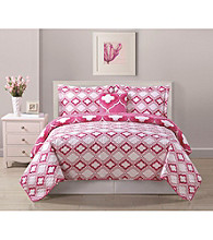 Bed Threads Avery Geo 3-pc. Reversible Quilt Set