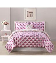 Bed Threads Fine Line 3-pc. Reversible Quilt Set