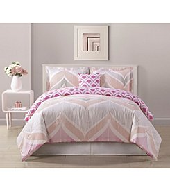 Bed Threads Fine Line 3-pc. Reversible Comforter Set