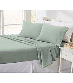 Home Fashions Oxford Solid Fleece Sheet Set