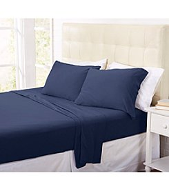 Home Fashions Tribeca Solid Jersey Fleece Sheet Set