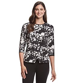 Vince Camuto® Cross Peplum Top