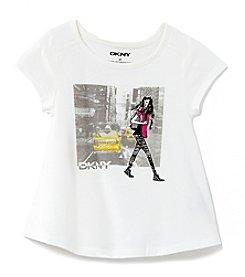 DKNY® Girls' 2T-6X Short Sleeve City Girl Tee