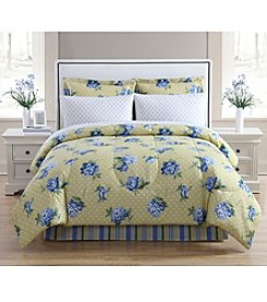 LivingQuarters Yellow Blossom 8-pc. Comforter Set