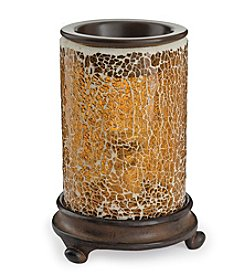 Candle Warmers Etc. Crackled Glass Amber Warmer