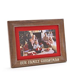 Malden Our Family Rustic Christmas Frame
