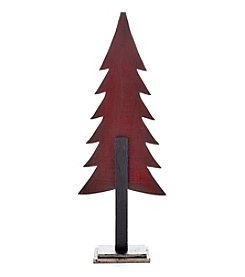 LivingQuarters Red Wooden Tree