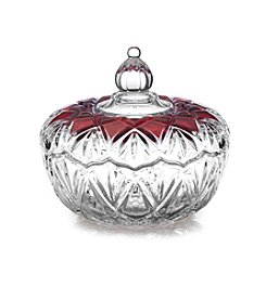 Mikasa® Ruby Saturn Covered Candy Dish
