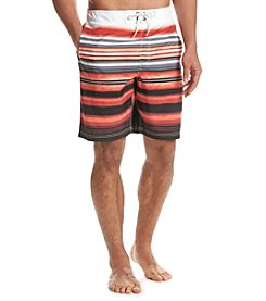 Paradise Collection Men's Stripe Swim Trunk