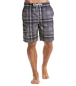 Paradise Collection Men's Plaid Swim Short