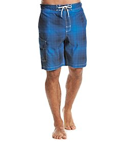 Paradise Collection® Men's Plaid Swim Shorts