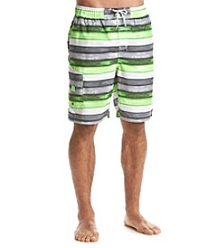 Paradise Collection Men's Stripe Swim Trunks