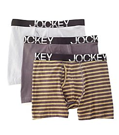 Jockey® Men's 3-Pack Active Stretch Midway Brief