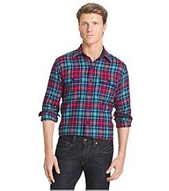 Izod® Men's Long Sleeve Plaid Flannel Button Down Shirt
