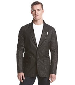 DKNY JEANS® Men's Coated Blazer With Zip Pockets