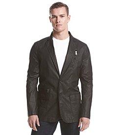 DKNY JEANS® Men's Coated Blazer With Zip Pockets