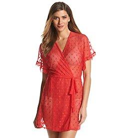Linea Donatella® Mesh Wrap Robe