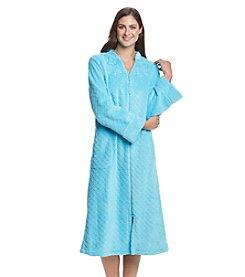 Miss Elaine® Fleece Zip Up Robe