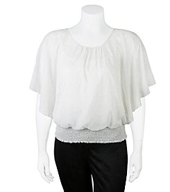 A. Byer Plus Size Flutter Top