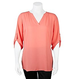A. Byer Plus Size Tunic With Side Slits