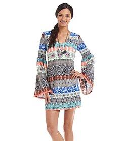Sequin Hearts® Printed Shift Dress
