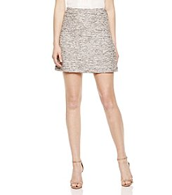 Vince Camuto® Double Zip Tweed Skirt