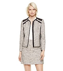 Vince Camuto® Zip-Front Tweed Jacket