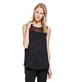 Vince Camuto® Sheer Yoke Top