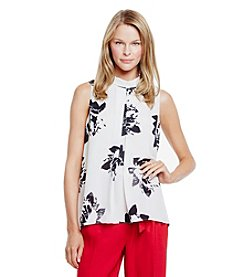 Vince Camuto Inverted Pleat Top
