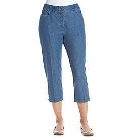 Studio Works® Denim No Gap Twill Crop Pants