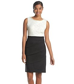 Connected® Pearl Neckline Bodice Dress
