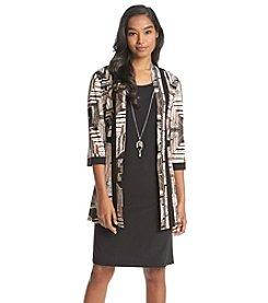 R&M Richards® Geo Patterned Jacket Dress
