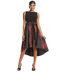 S.L. Fashions Jacquard Party Dress