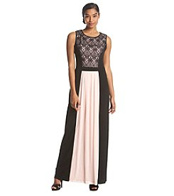 Connected® Two-Tone Lace Bodice Dress