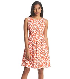 AGB® Fit And Flare Dot Dress